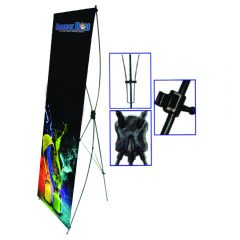 xstand murah, cross stand, bunting stand, portable stand, cheap stand