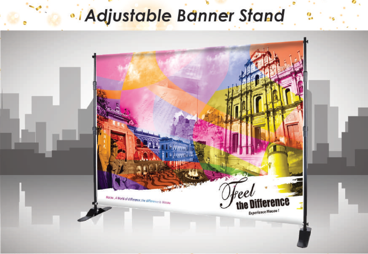 AdjustableStand, Budget backdrop, Portable backdrop