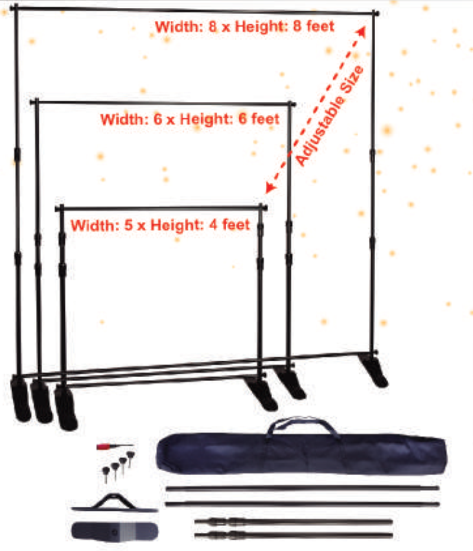 AdjustableStand, Adjustable backdrop