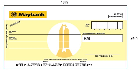 Mockup Cheque (Maybank)