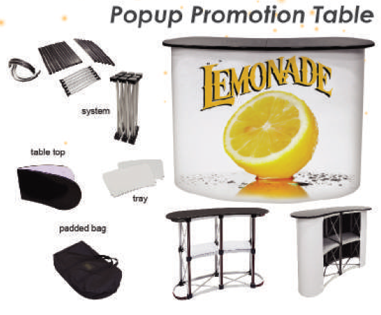 popup promotion counter, popup table, exhibition table