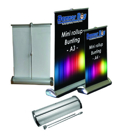 Mini Rollup Stand, Cute Rollup, Table Notice, A4 Stand, A3 Stand, Stand kecil meja, Reception notice board