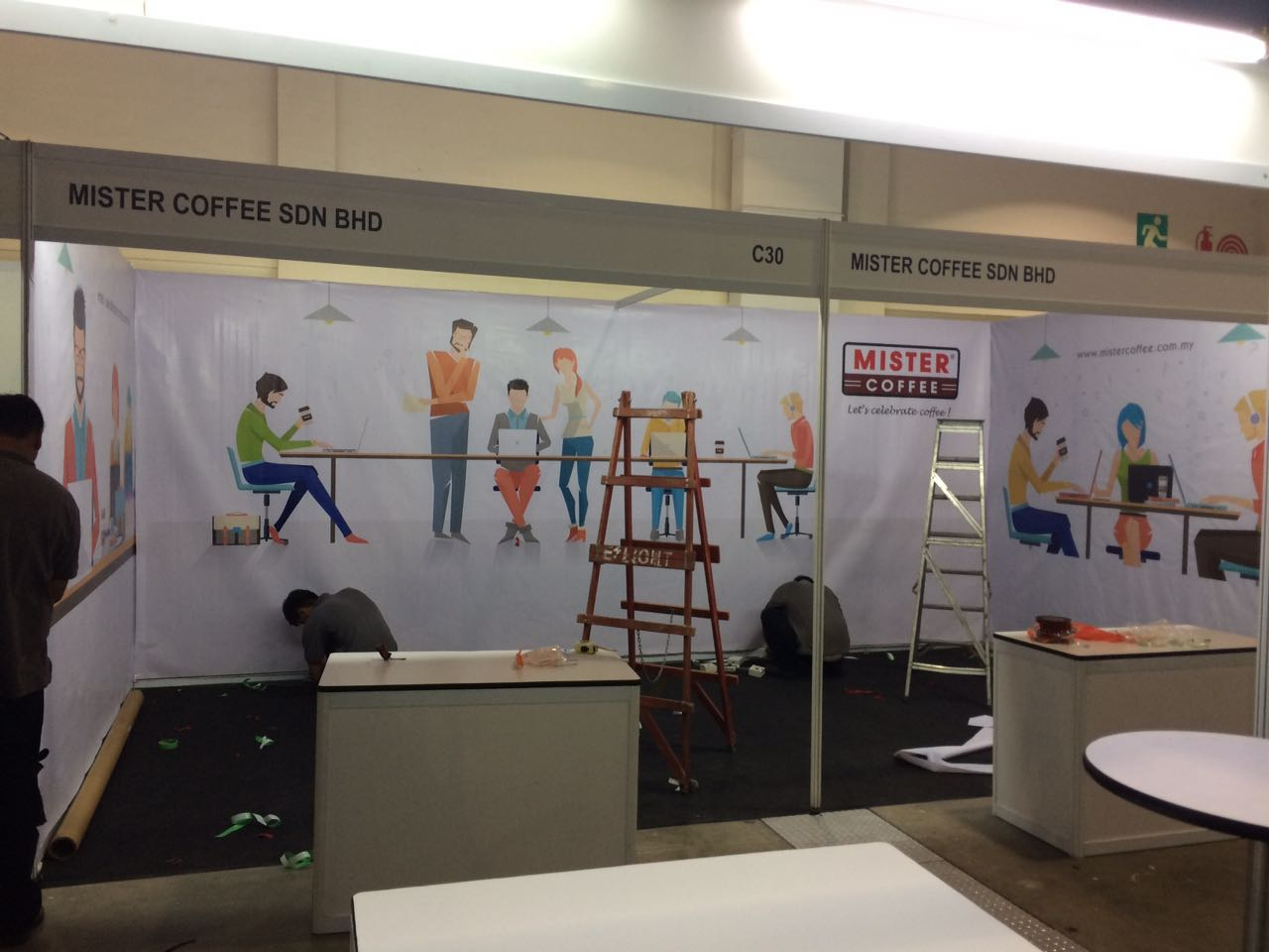 Exhibition Booth Backdrop : Exhibition backdrop setup shell scheme backdrop setup exhibit