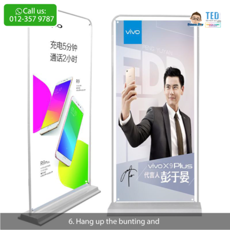 Telco bunting stand, stable bunting stand, bunting stand murah