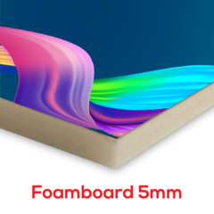 Mounting on Foamboard (5mm)